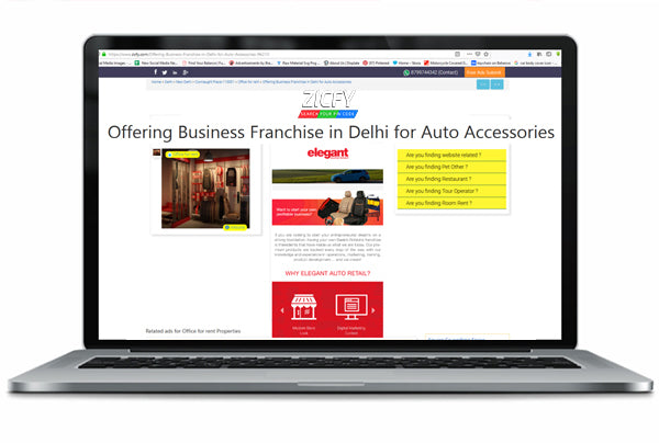 OFFERING BUSINESS FRANCHISE IN DELHI FOR AUTO ACCESSORIES - ZICFY