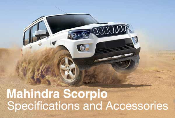 Mahindra Scorpio Facelift 2018 - Specifications and Accessories