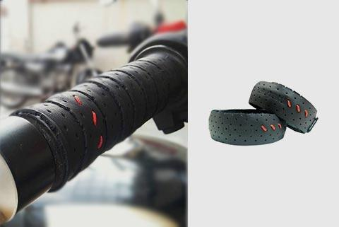 Leather Motorcycle Grip Wraps