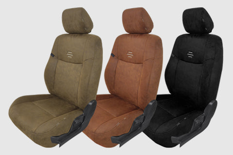 Nubuck Patina Leather Feel Fabric Car Seat Covers