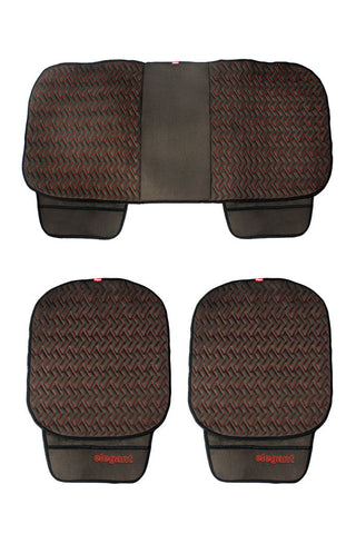 Caper Cool Pad Car Seat Cushion Black and Red (Set of 3)