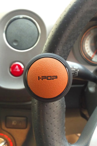 I-pop Car Steering Knob Black and Tan