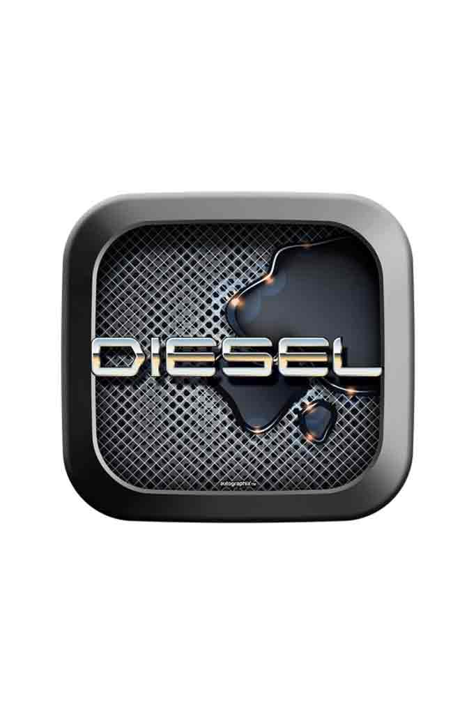 Mercury Square Diesel Car Fuel Badge
