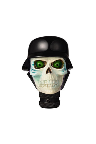 Soldier Skull Gear Knob Cream and Black