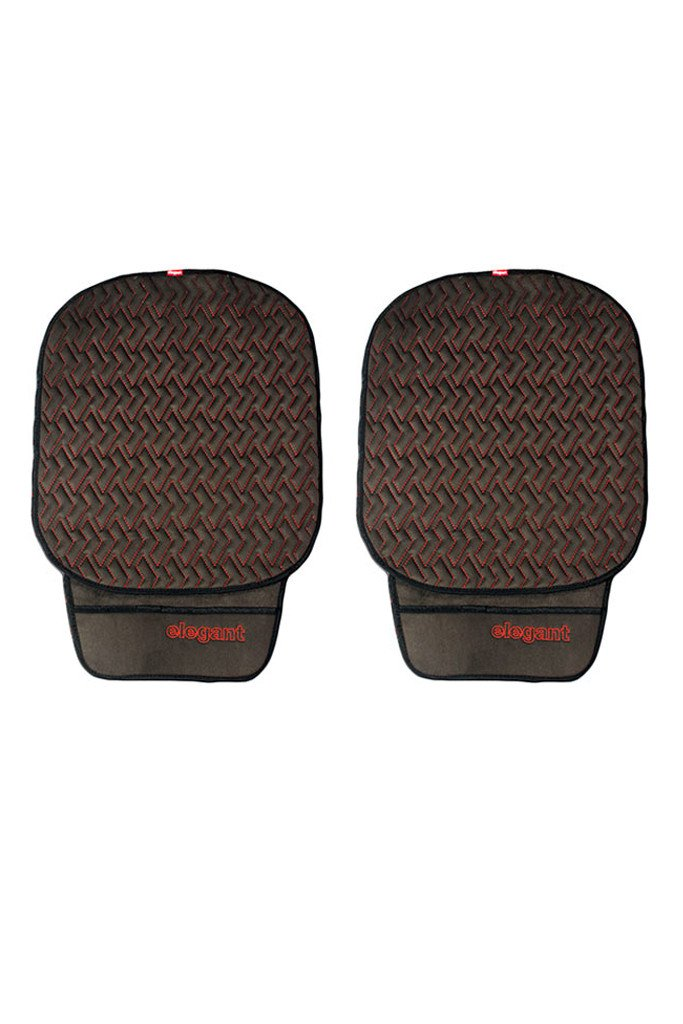 Caper Cool Pad Car Seat Cushion Black and Red (Set of 2)