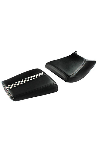 Gallop Style Twin Bike Seat Cover Black and White
