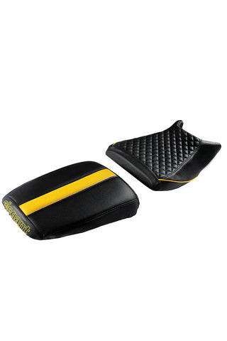 Cameo Sports Twin Bike Seat Cover Black and Yellow
