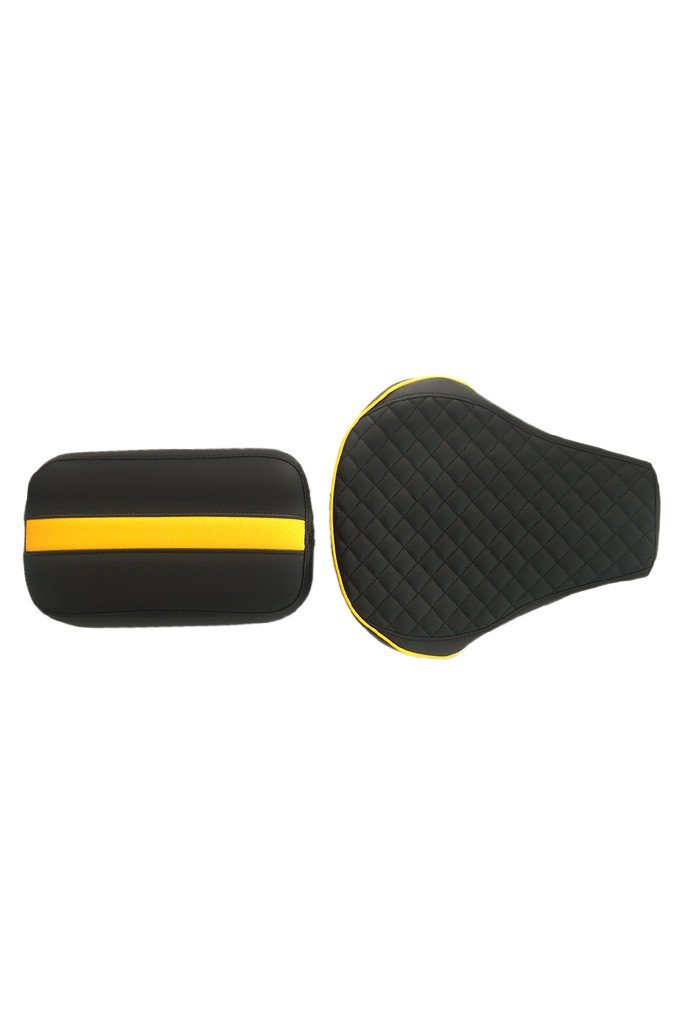 Cameo Sports Twin Bike Seat Cover Black and Yellow for Bullet