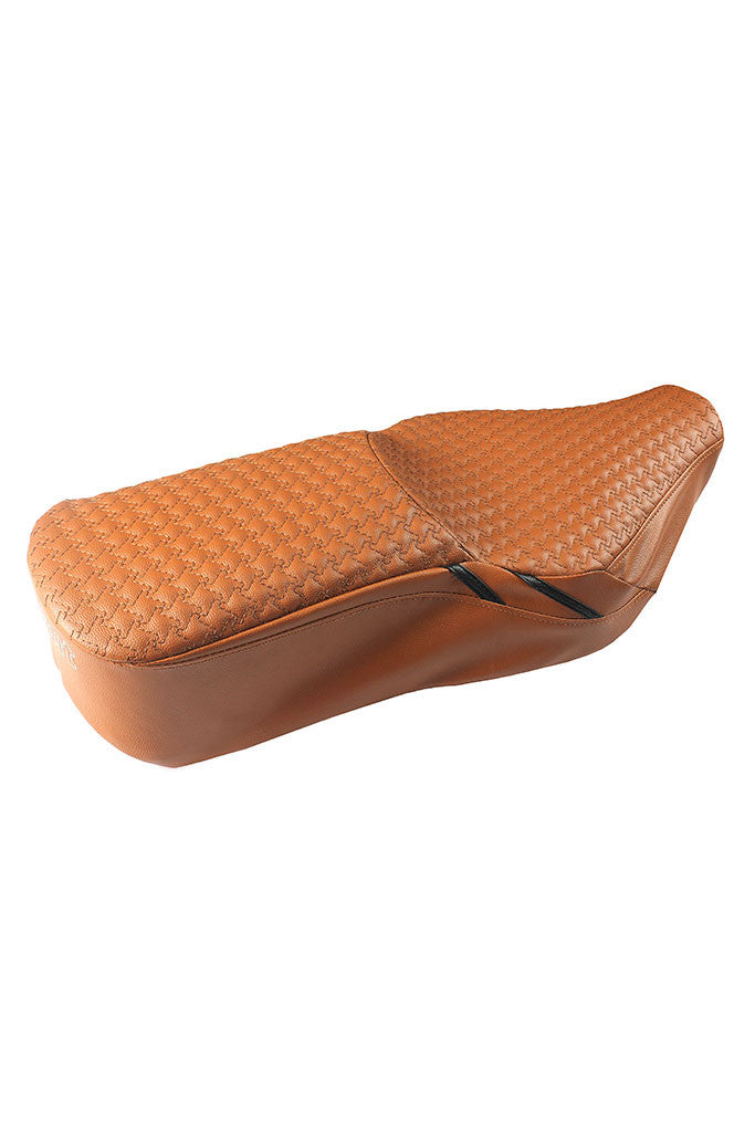 Rodeo Luxury Bike Seat Cover Tan with Black Side Detail