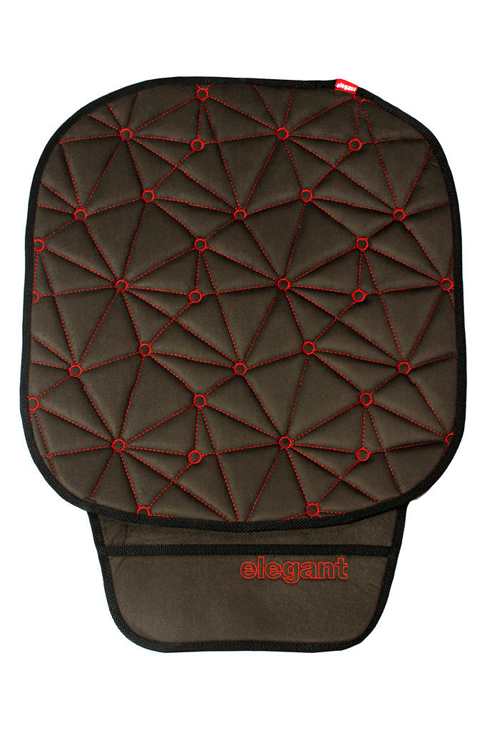 Space CoolPad Car Seat Cushion Black and Red (For Driver)