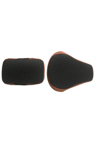 Rodeo Luxury Twin Bike Seat Cover Tan with Black Top for Bullet
