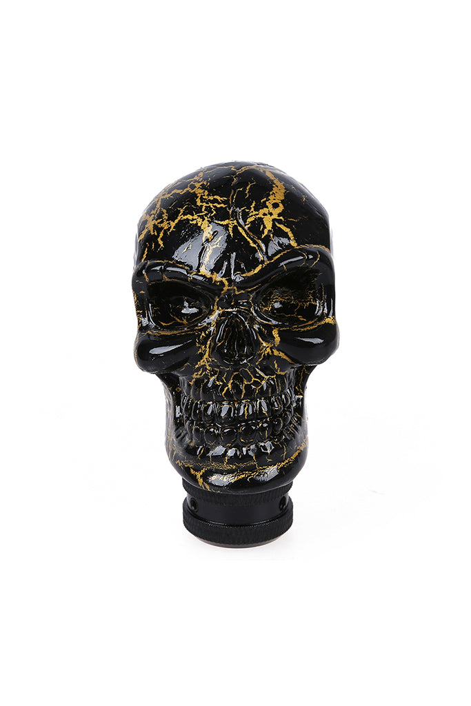 Skull Gear Knob Black and Gold