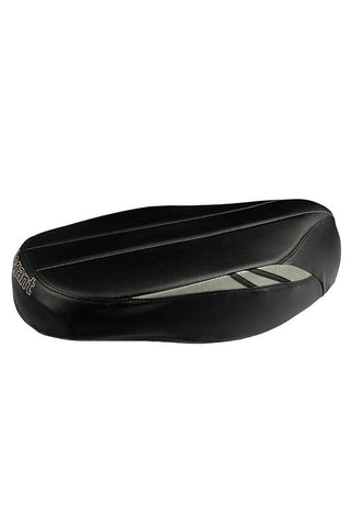 Flash Sports Scooter Seat Cover Black and Silver