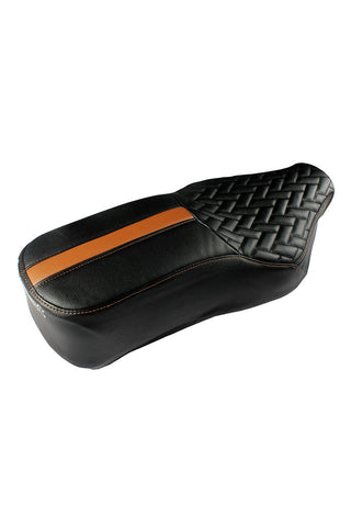 Prime Luxury Bike Seat Cover Black and Tan