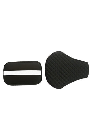 Cameo Sports Twin Bike Seat Cover Black and White for Bullet