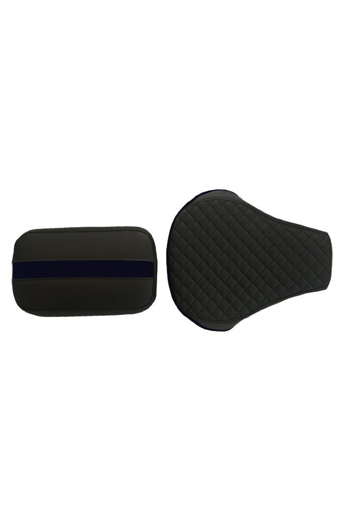 Cameo Sports Twin Bike Seat Cover Black and Blue for Bullet