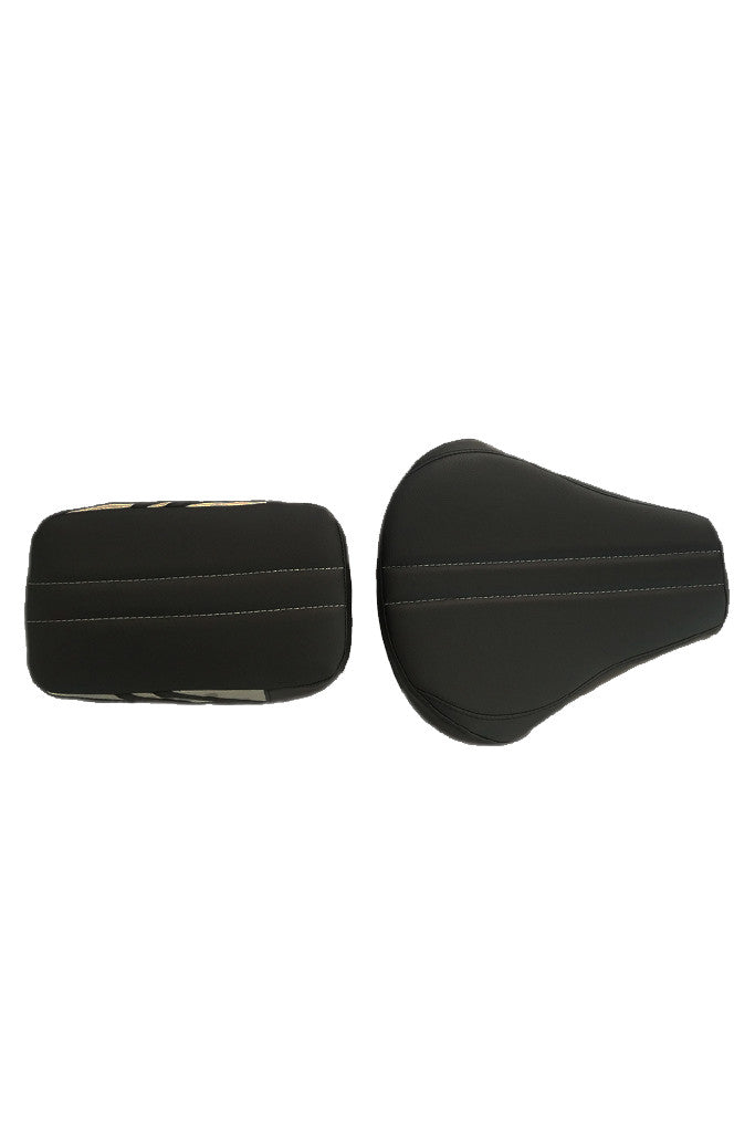 Bolt Sports Twin Bike Seat Cover Black and Silver for Bullet