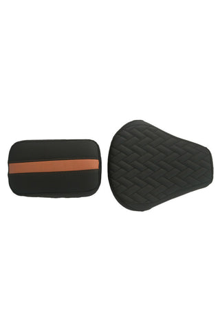 Prime Luxury Twin Bike Seat Cover Black and Tan for Bullet