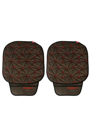 Space CoolPad Car Seat Cushion Black and Red (Set of 2)