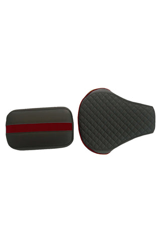 Cameo Sports Twin Bike Seat Cover Black and Red for Bullet