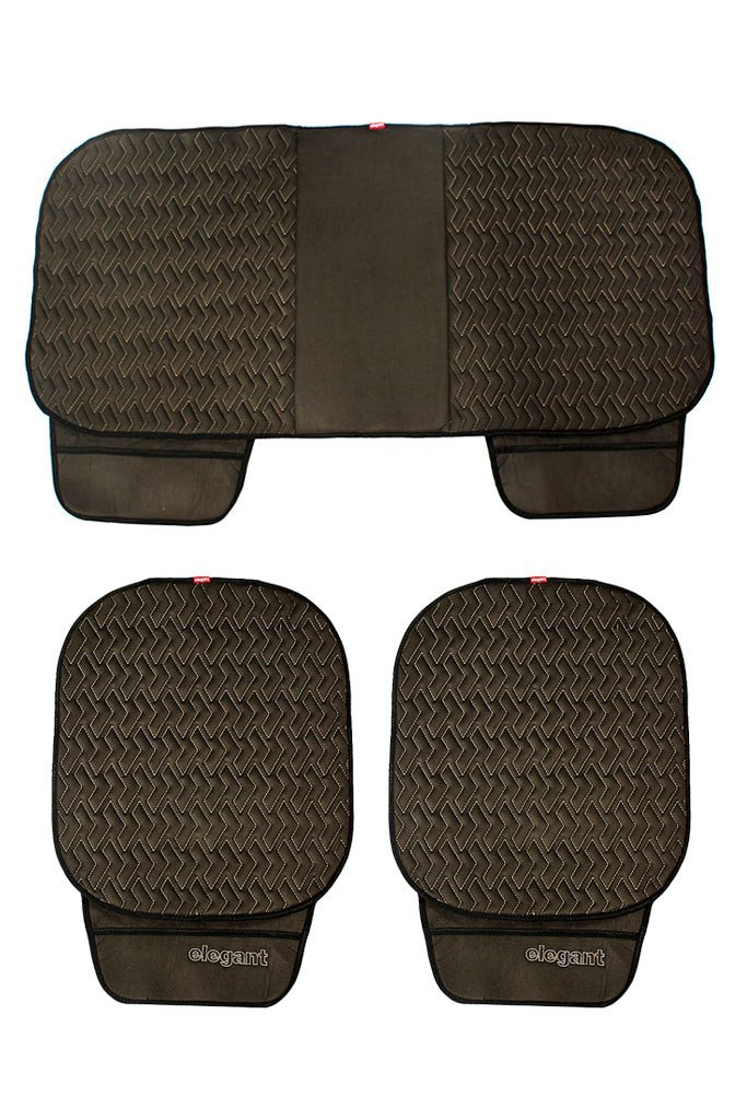 Caper Cool Pad Car Seat Cushion Black and Grey (Set of 3)