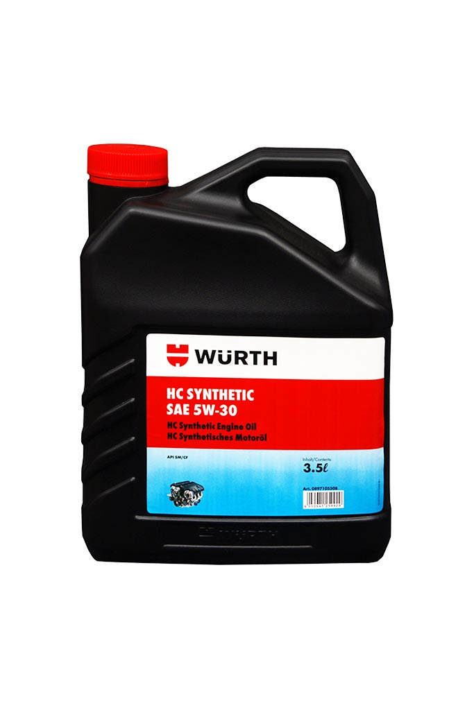 Wuerth HC Synthetic Engine Oil 5w30-3.5L