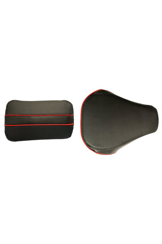 Gun Twin Bike Seat Cover Black and Red for Bullet