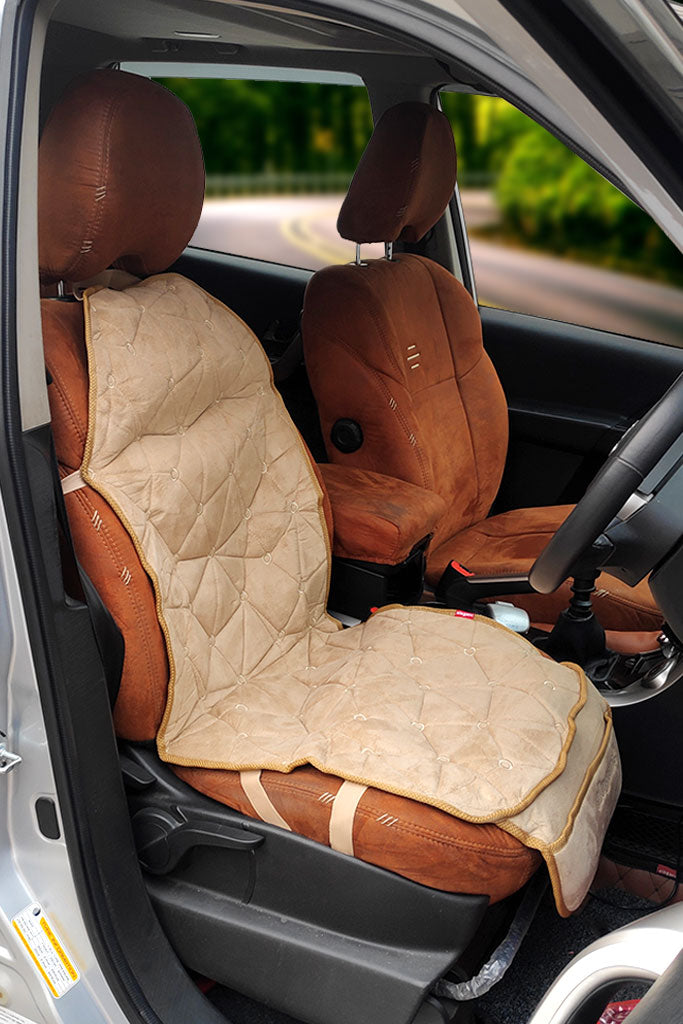 Space CoolPad Full Car Seat Cushion Beige (For Driver)