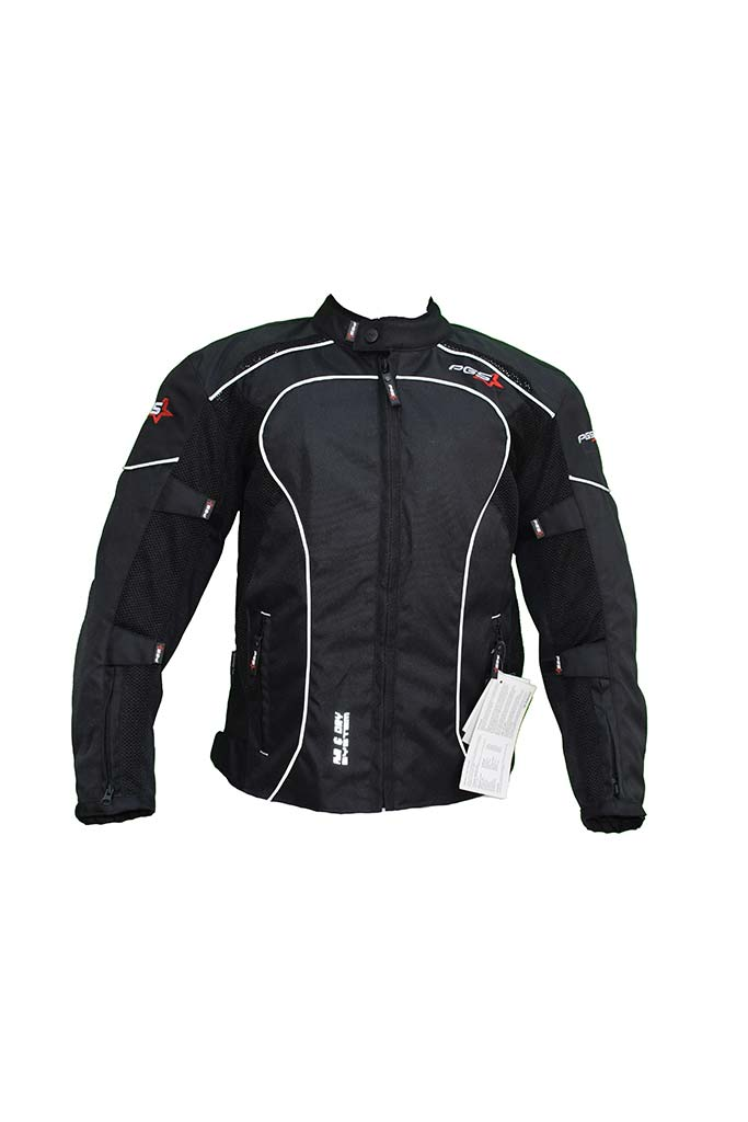 PGS Riding Gears - All Season Mesh Protective Riding Jacket Black