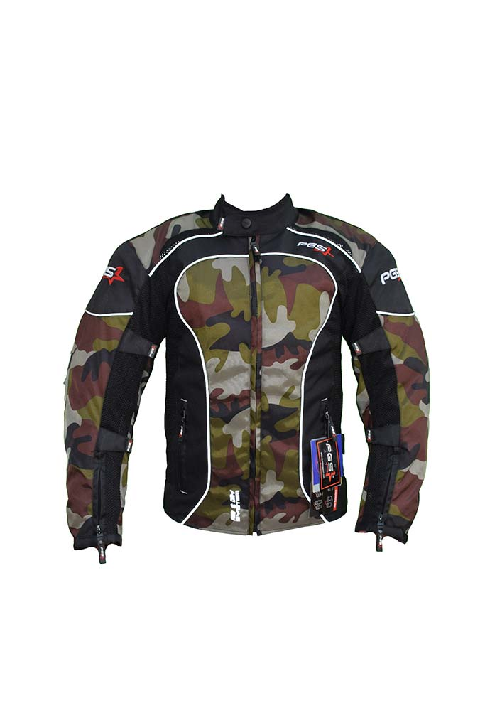 PGS Riding Gears - All Season Mesh Protective Riding Jacket Camouflage