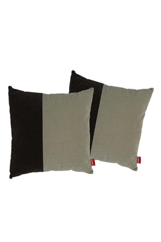 Velvet Comfy Cushion iGray and Cola (Set of 2) Style 5