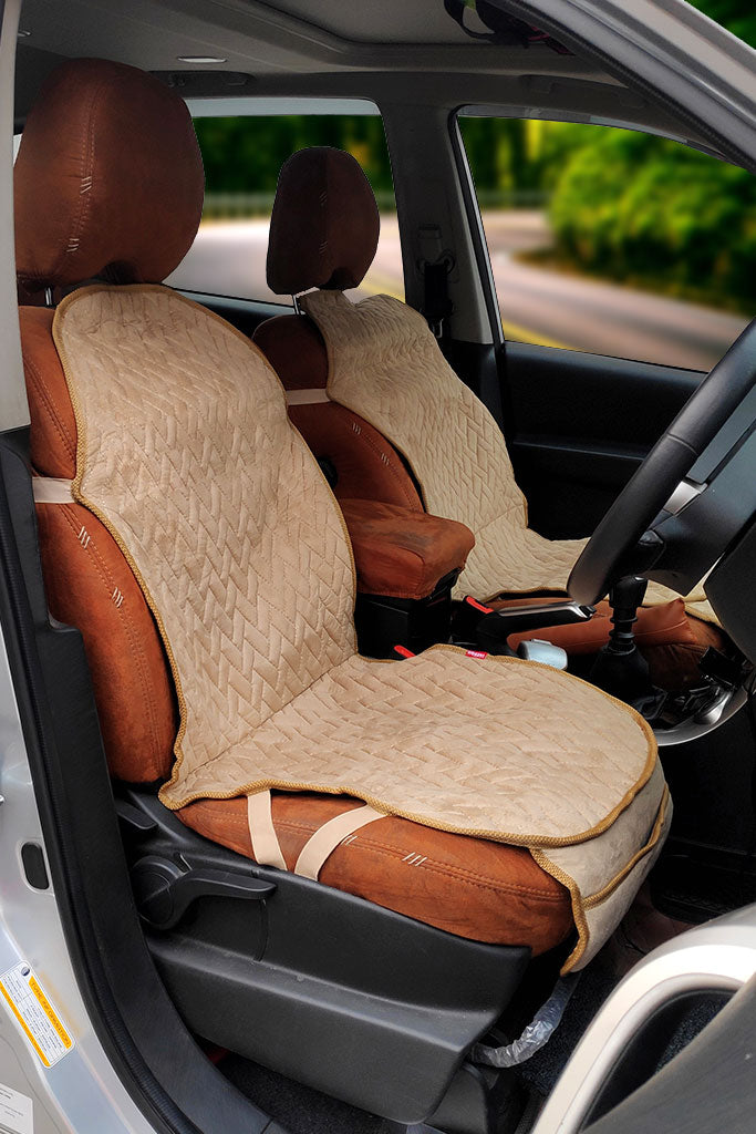 Caper CoolPad Full Car Seat Cushion Beige (Set of 2)