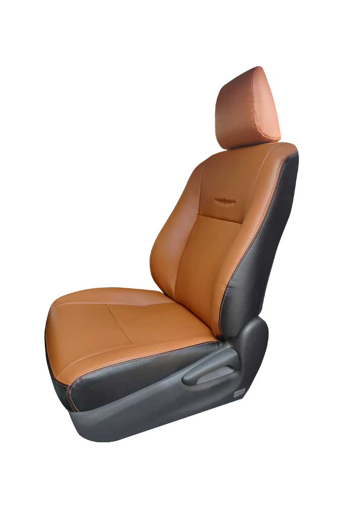 Nappa Uno Duo Art Leather Car Seat Cover Tan and  Black