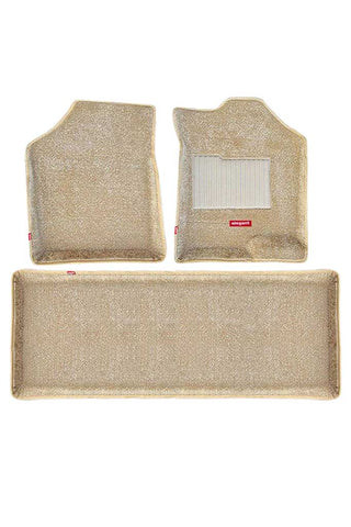 Carpet 3D Car Floor Mat Beige (Set of 3)