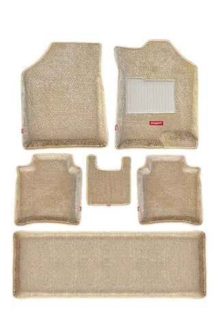 Carpet 3D Car Floor Mat Beige (Set of 6)