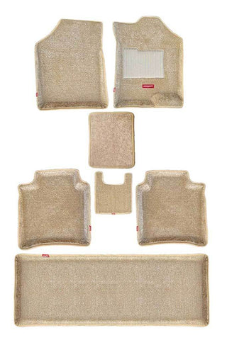 Carpet 3D Car Floor Mat Beige (Set of 7)
