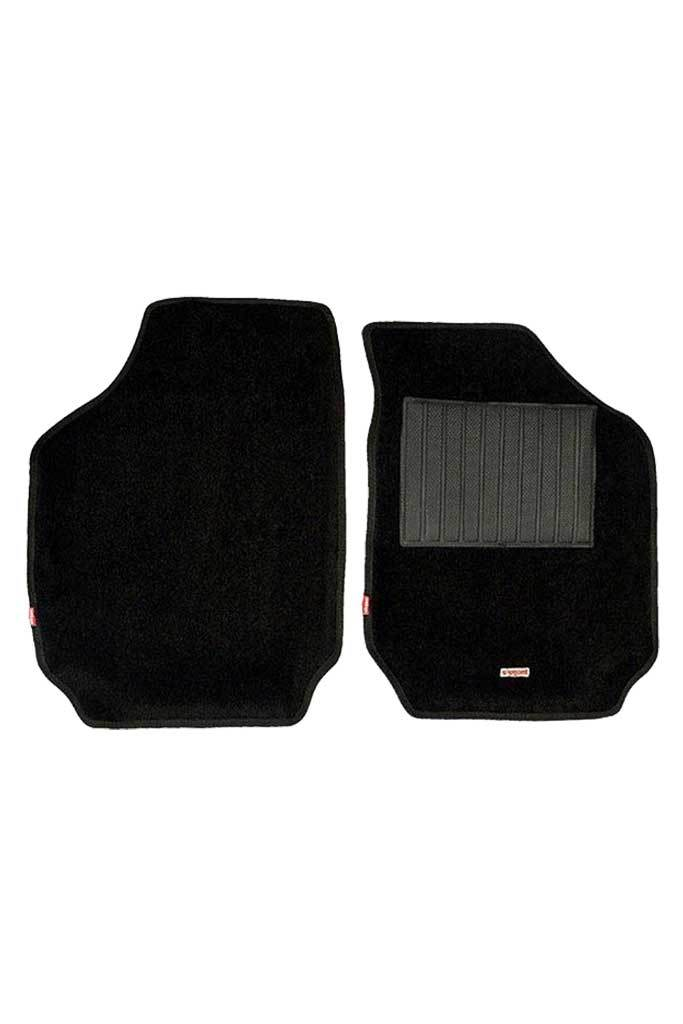 Carpet 3D Car Floor Mat Black (Set of 2)