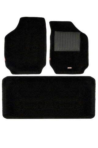 Carpet 3D Car Floor Mat Black (Set of 3)