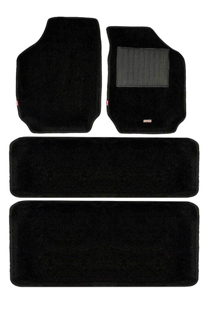 Carpet 3D Car Floor Mat Black (Set of 4)