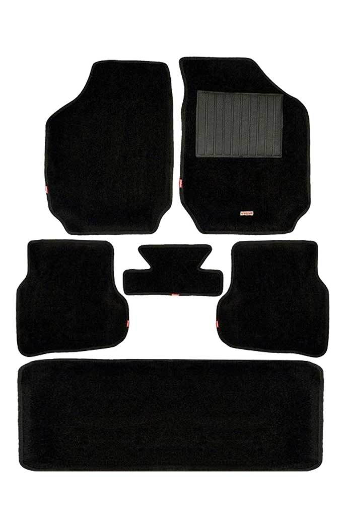 Carpet 3D Car Floor Mat Black (Set of 6)