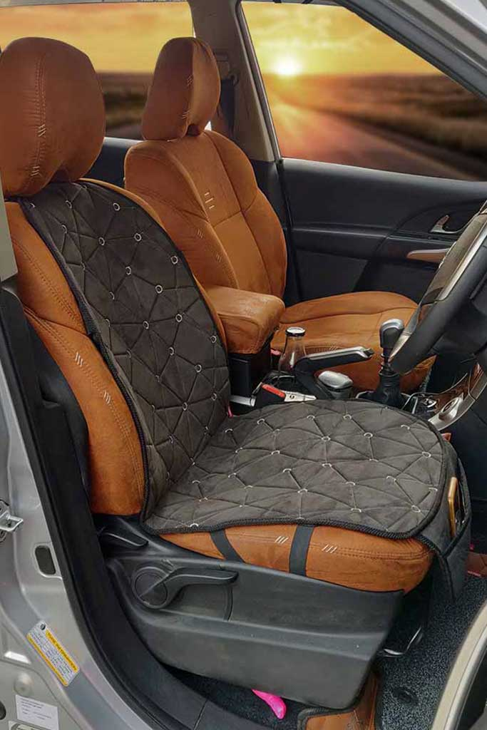 Space CoolPad Full Car Seat Cushion Black and Grey(For Driver)