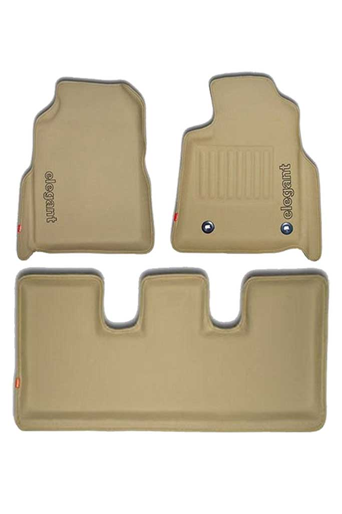 Sportivo 3D Car Floor Mat Beige (Set of 3)