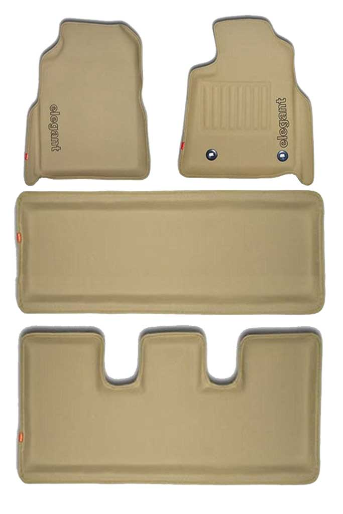 Sportivo 3D Car Floor Mat Beige (Set of 4)