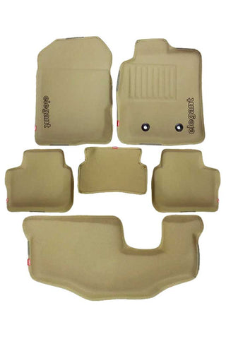 Sportivo 3D Car Floor Mat Beige (Set of 6)