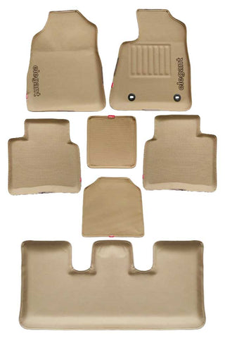 Sportivo 3D Car Floor Mat Beige (Set of 7)