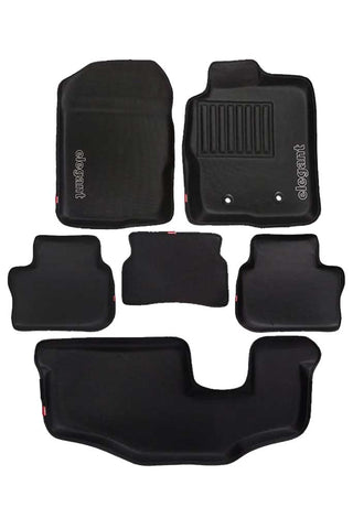 Sportivo 3D Car Floor Mat Black (Set of 6)