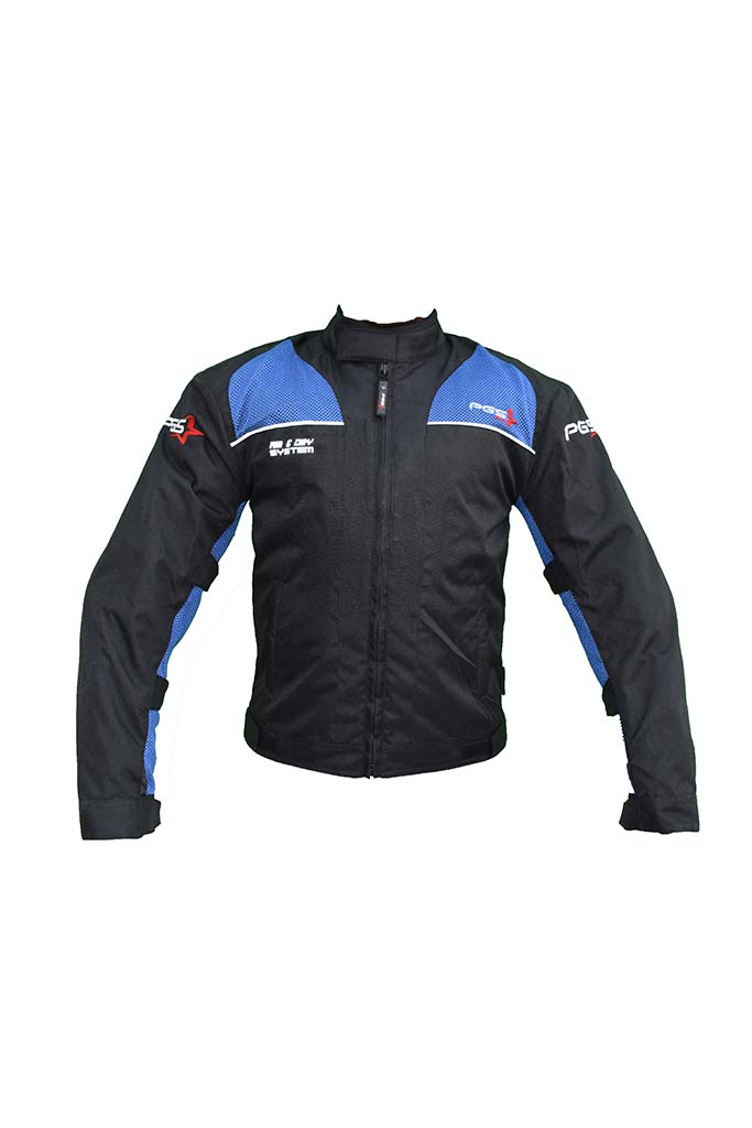 PGS Riding Gears - Armor Jacket Black and Blue