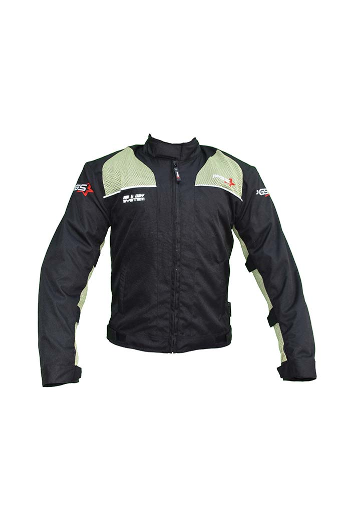 PGS Riding Gears - Armor Jacket Black and Green