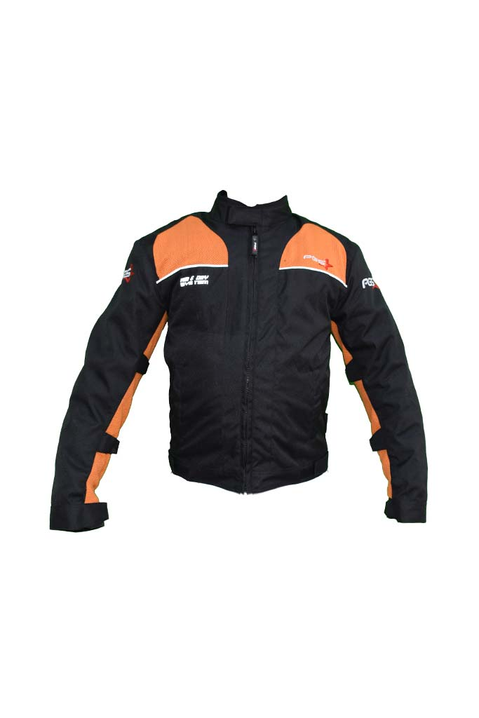 PGS Riding Gears - Armor Jacket Black and Orange