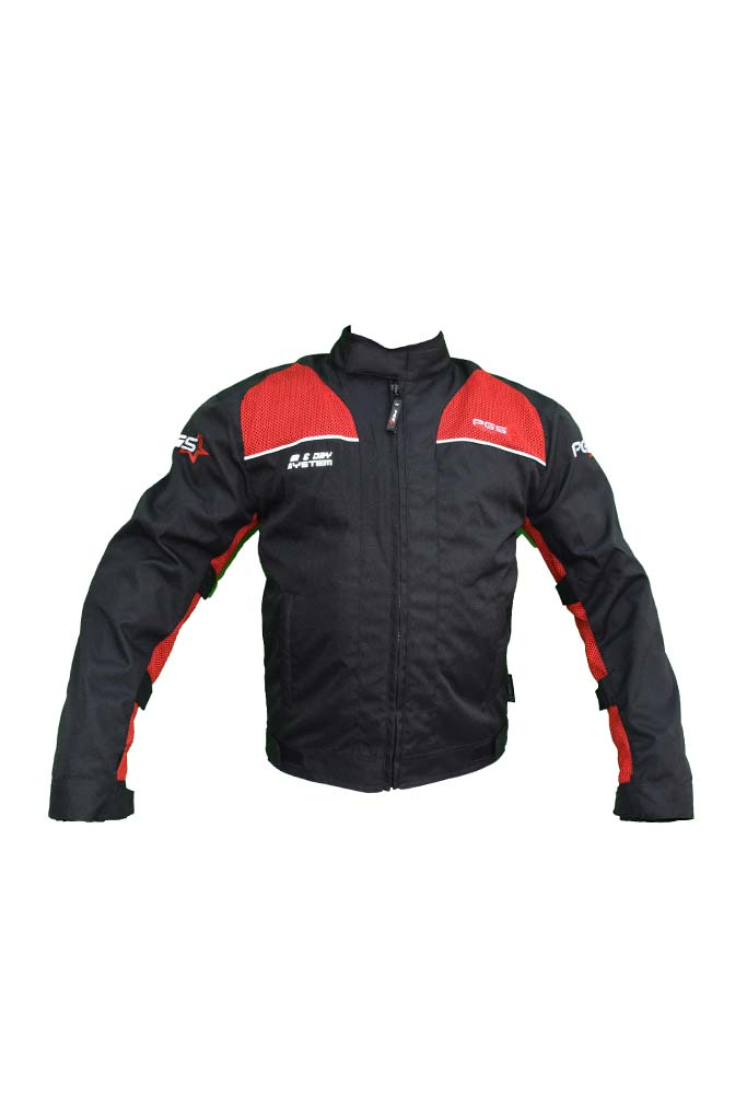 PGS Riding Gears - Armor Jacket Black and Red